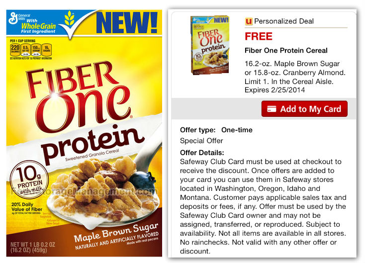 Fiber one coupons