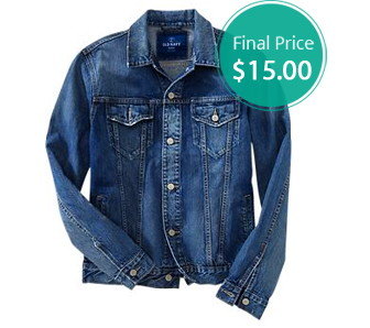 Denim Jackets for the Entire Family Only $15.00 at Old Navy