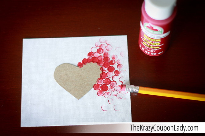 diy valentine u0026 39 s pencil eraser paintings