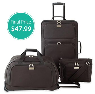 3-Piece Luggage Set, Only $47.99 at JCPenney—Normally ...