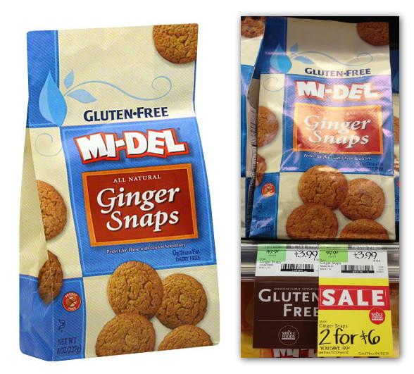 Mi-Del Gluten Free Ginger Snaps