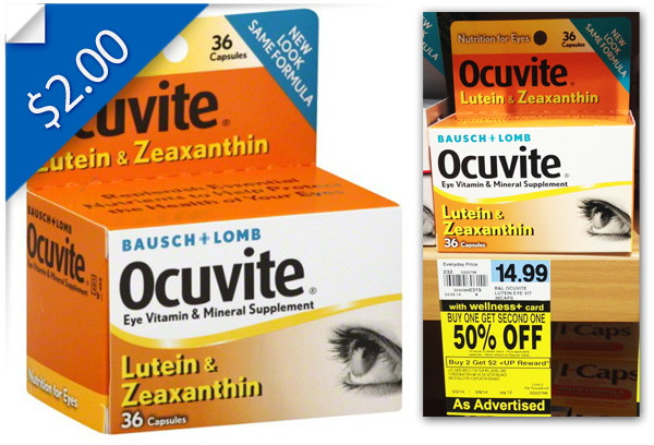 Ocuvite Eye Vitamins, Only $5.24 at Rite Aid!
