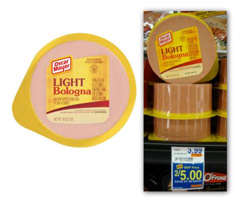 Oscar Mayer light bologna layer