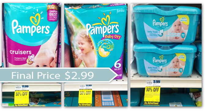 Coupon Reset Pampers Diapers And Wipes Only 2 99 At