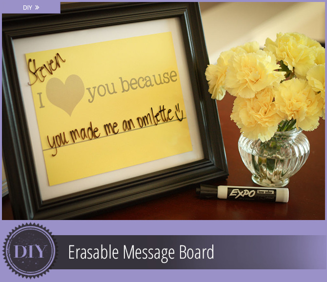 Best Inexpensive Wedding Gifts: Erasable Message Board DIY: An Easy, Inexpensive Wedding Gift