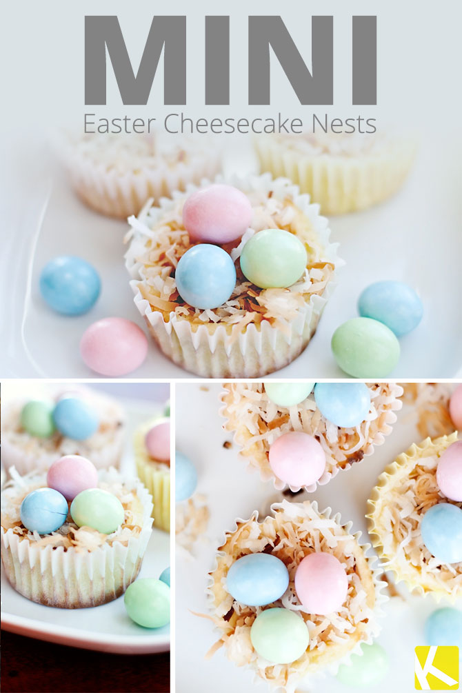 Mini Easter Cheesecake Nests - The Krazy Coupon Lady