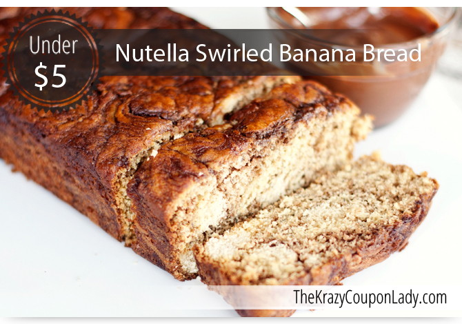 Scrumptious Nutella Swirled Banana Bread - The Krazy Coupon Lady
