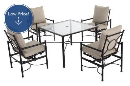 Save 40% on 5-Piece Patio Dining Set with Cushions!