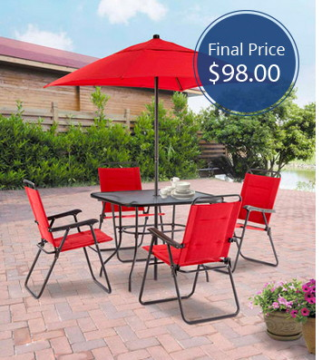 Mainstays Searcy Lane 6-Piece Patio Dining Set, Only $98 Shipped!