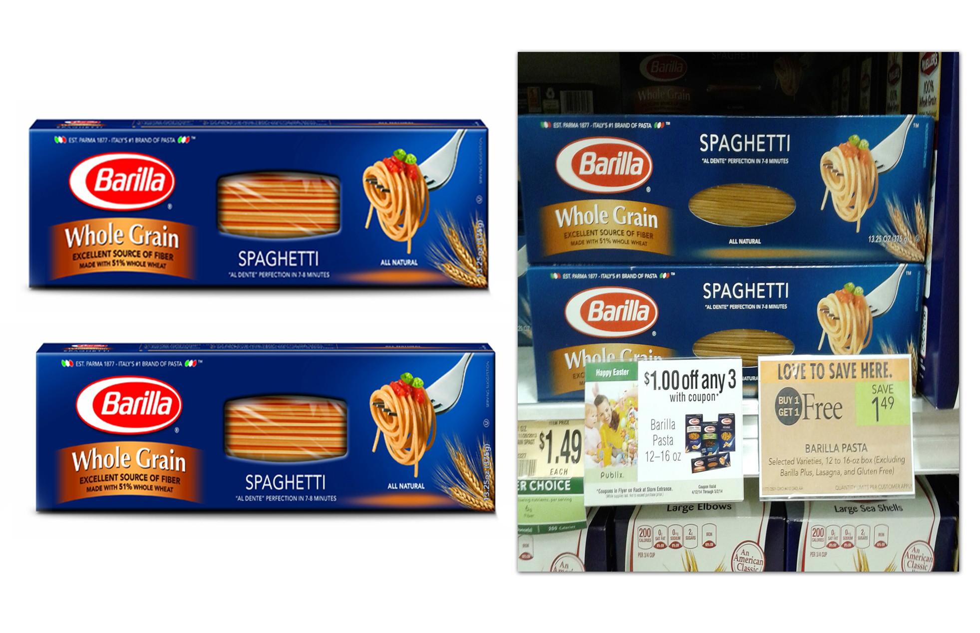 moneymaker barilla whole grain pasta at publix the krazy coupon