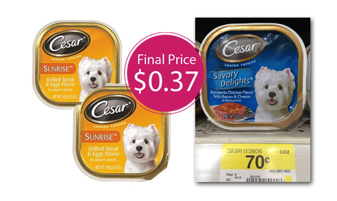 photo about Caesars Dog Food Printable Coupons identified as Walmart cesar canine meals / Damp seal lower price code