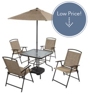7 Piece Folding Patio Dining Set Only 95 The Krazy Coupon Lady