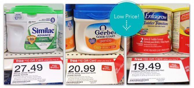 Target formula coupons
