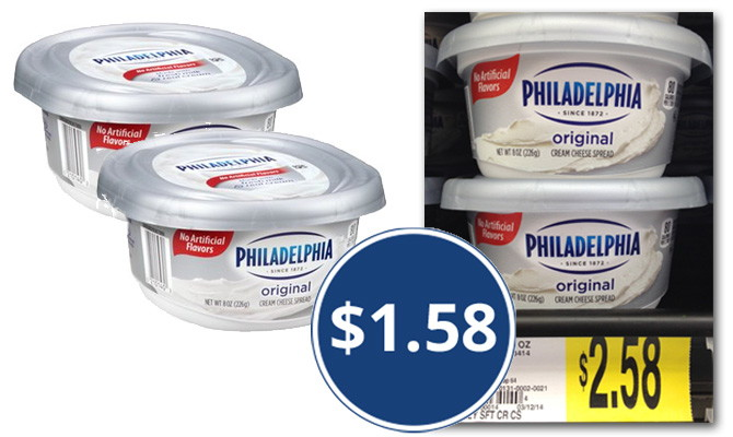 Use A 1 00 Coupon At Walmart And Pay 1 58 For Kraft Philadelphia Cream Cheese I Signed Up On The Kraft Recipes Site To Get The Coupon As An Added Bonus