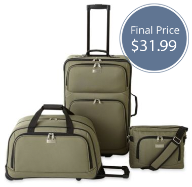 Save 75% on Protocol 3-PC Luggage Set, Only $31.99! - The Krazy ...