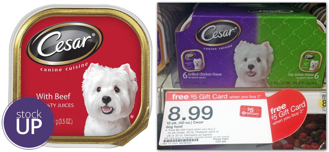 Target Cesar Dog Food Coupon