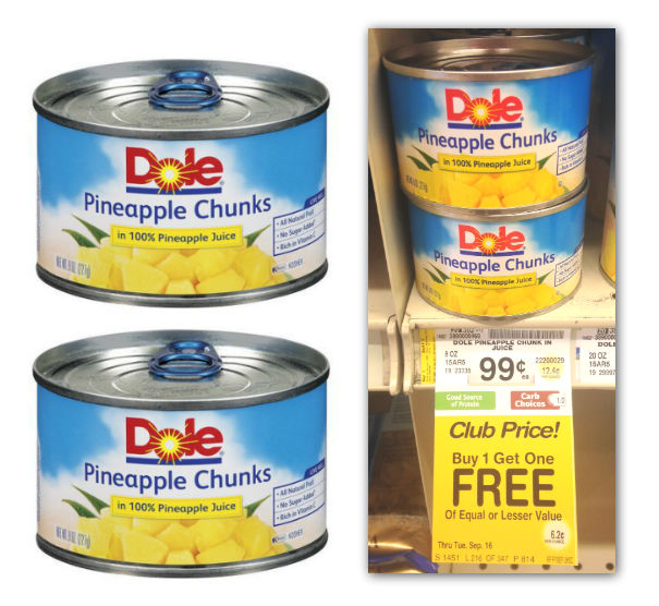 Dole Pineapple Cans Coupon