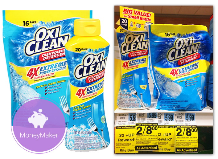 Moneymaker Oxiclean Dishwasher Detergent At Rite Aid
