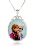 "Disney ""Frozen"" Anna and Elsa Pendant Necklace, Only $12.00!"