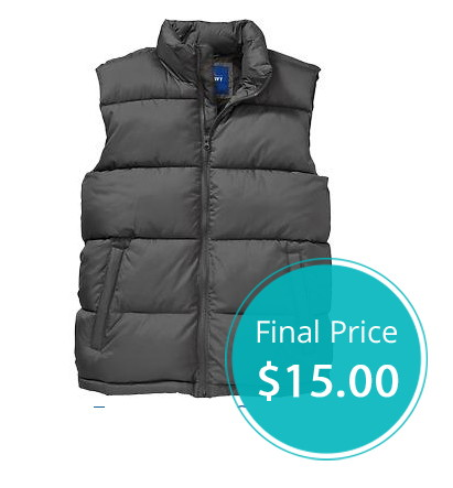 Frost Free Vests, Only $15.00 at Old Navy–Online, Today Only!