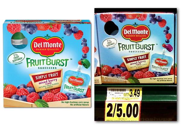 del monte fruit burst coupon