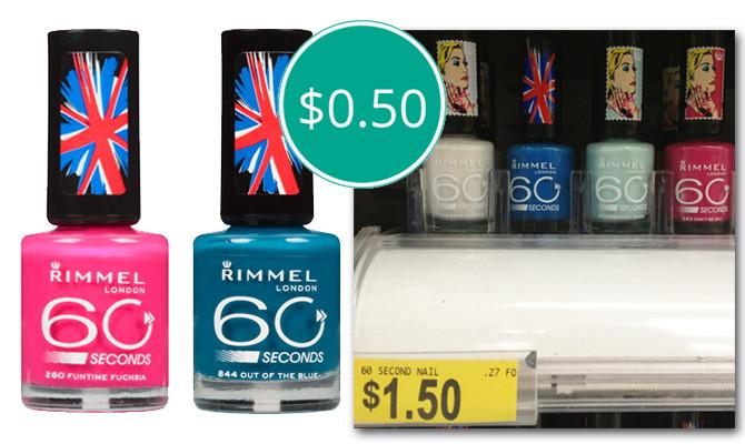 Rimmel 60 Seconds Nail Polish, Only $0.50 at Walmart ...