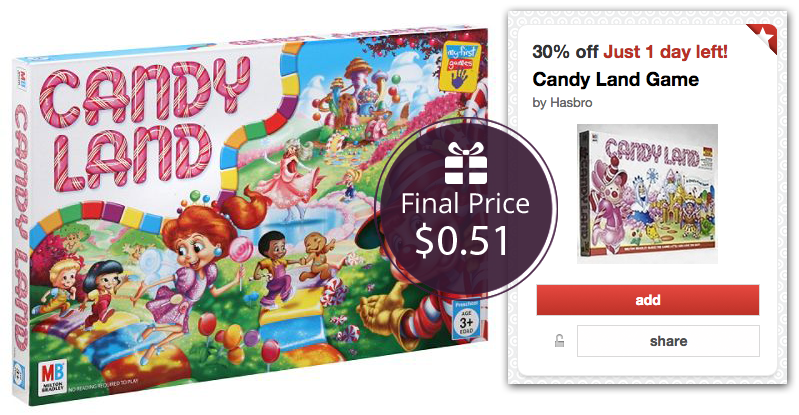 Candy Land Game, Only $0.51 at Target!