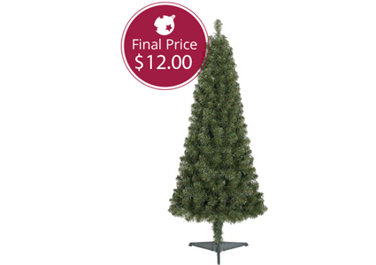 Save 50% on an Unlit Artificial Spruce Christmas Tree!