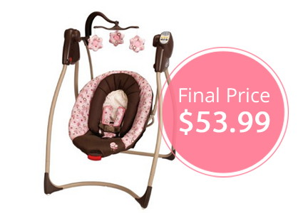 Hot Price! Graco Comfy Cove DLX Swing, Only $53.99–Normally $89.99!