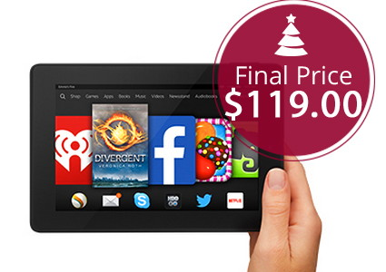 Kindle Fire HD 7 Tablet, Only $119.00 Shipped!