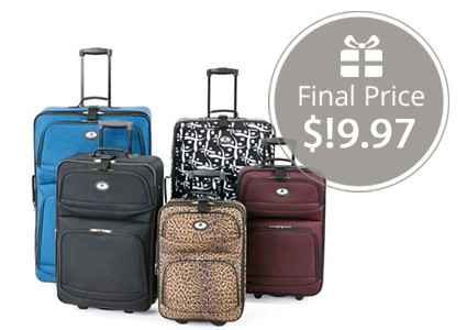 Leisure Luggage Collection, Only $19.97 per Bag Shipped!