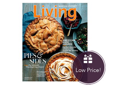 Save 83% on a Year of Martha Stewart Living Magazine!