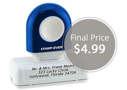 Hot! Pre-Inked Custom Stamp, Only $4.99