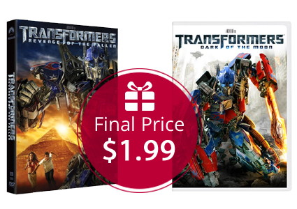 Transformers DVDs, Only $1.99 each–HOT Price!
