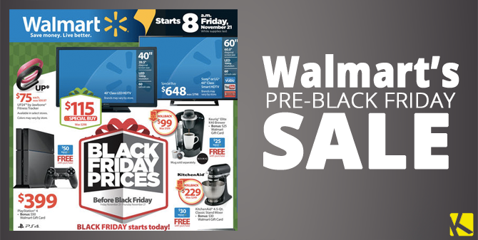 Walmart Early Black Friday Sale Ad Preview Starts
