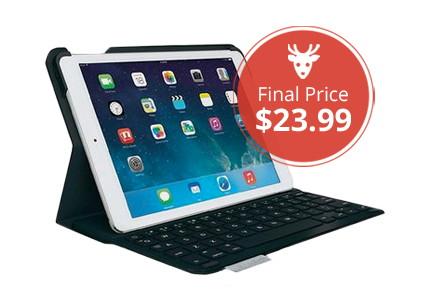 Save 76% on Logitech Ultrathin Keyboard Folio for iPad Air!