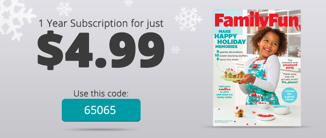 HOT! Family Fun Magazine: One-Year Subscription, Only $0.50 per Issue!