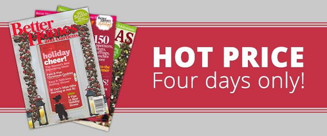 HOT! Better Homes and Gardens Magazine: One-Year Subscription, Only $4.99 Shipped!