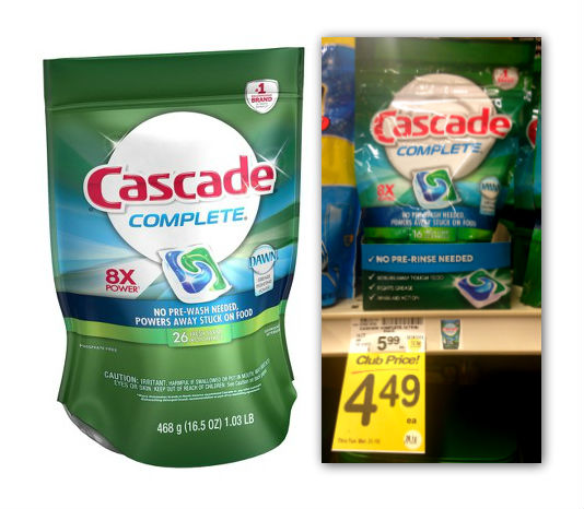 Cascade Action Pacs Safeway Coupon