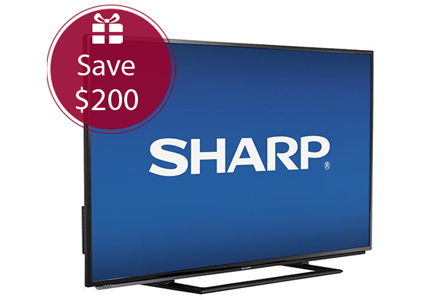 Save $200 on a Sharp 50″ TV!