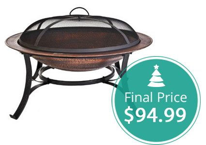 Cast Iron Copper Finish Fire Pit, 50% Off–Today Only!