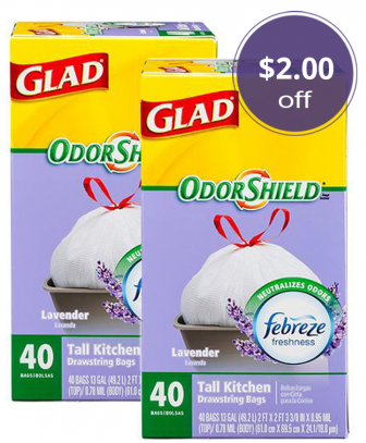 Save $2.00 on Glad Trash Bags, Only $5.92 at Walmart! - The Krazy ...