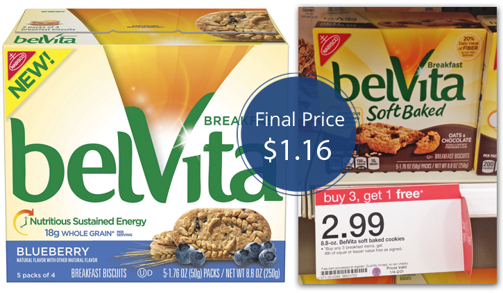 Belvita Breakfast Biscuits Only 1 16 At Target The