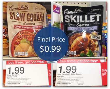 Campbell's SLow Cooker Sauce Target
