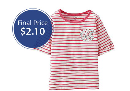 HOT! Extra 30% Off Clearance at Bon-Ton–Carter's Tees, Only $2.10!