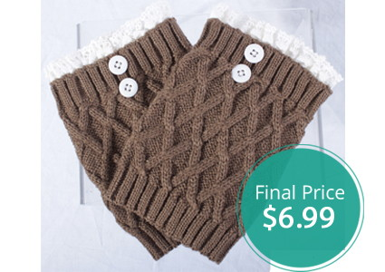Lace Knit Boot Cuffs, Only $6.99–Normally $19.99!