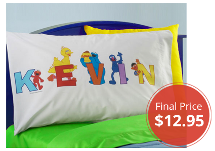 Personalized Sesame Street Alphabet Pillowcase, Only $12.95!