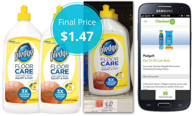 Save $3.00 on Pledge wood floor cleaner! Use a $2.00 coupon at Walmart,  where the regular price for Pledge Floor Care is $4.47. Pay $2.47. - Pledge Wood Floor Cleaner, Only $1.47 At Walmart! - The Krazy