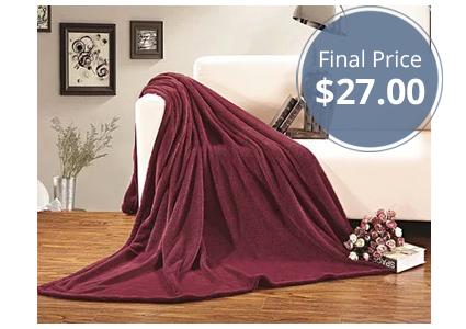 Luxurious Micro-Fleece Plush Blanket, Just $27.00!