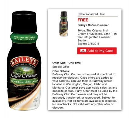 Bailey's Coffee Creamer Safeway Coupon